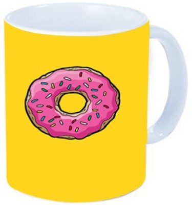 Rawkart Donut yellow Ceramic Mug