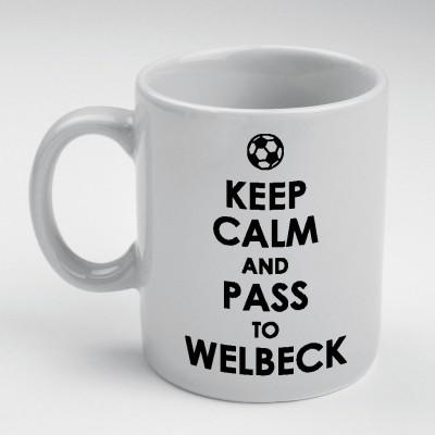 Prokyde Prokyde Keep Calm & Pass to Welbeck  Ceramic Mug