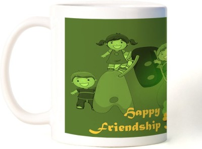 Rockmantra Three Kids Happy Friendship Day Ceramic Mug