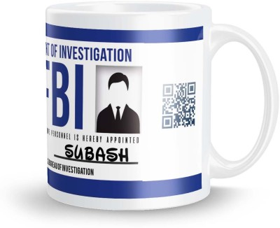 posterchacha Subash FBI ID Tea And Coffee Ceramic Mug(300 ml)