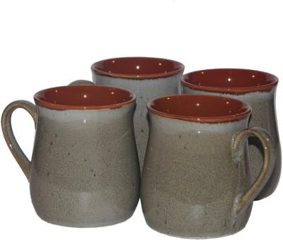 Inhomez Brown Studio Stoneware Potbelly Coffee/Milk  Ceramic Mug