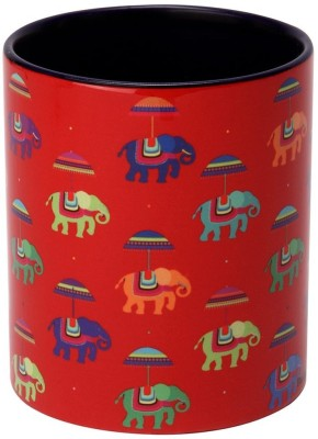 The Elephant Company  Red Flying Elephants Ceramic Mug
