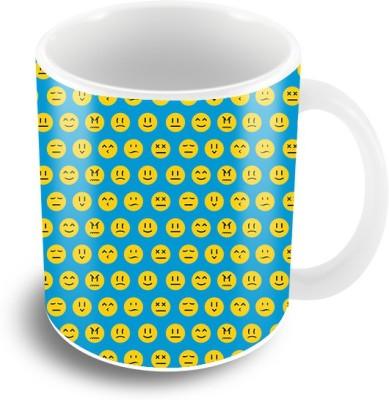 Thecrazyme Emojis Faces Coffee Ceramic Mug