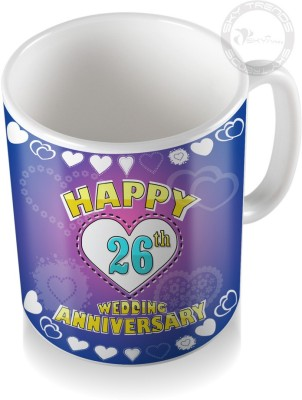 SKY TRENDS GIFT 26th Happy Wedding Anniversary Coffee  Ceramic Mug
