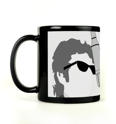 AURRA PRINTED BLACK-038 Ceramic Mug
