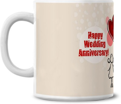 Lovely Collection Happy Anniversary Ceramic Mug