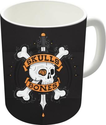 The Fappy Store Skulls And Bones Ceramic Mug