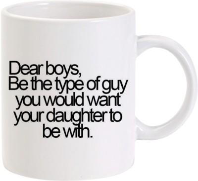 Lolprint 213 Dear Boys Fathers Day Gift Ceramic Mug
