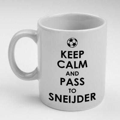 Prokyde Prokyde Keep Calm & Pass to Sneijder  Ceramic Mug
