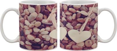 Artifa Hearts On Stones Porcelain, Ceramic Mug