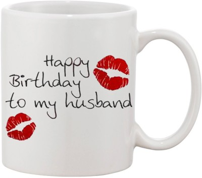 Elli Gifts Happy Birthday Husband H4 Ceramic Mug