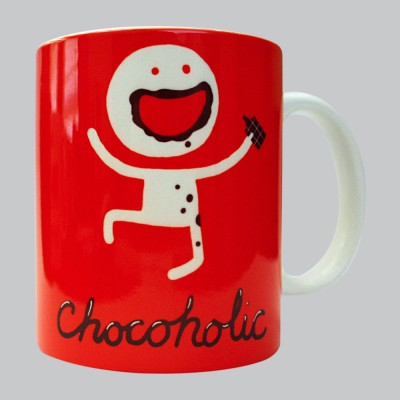 Chimp Chocoholic Porcelain Mug
