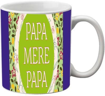 meSleep Papa Mere Papa Ceramic Mug(350 ml)