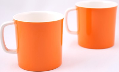Hi Luxe Dbl Clr Melamine 42248 Dual - Orange Melamine Mug