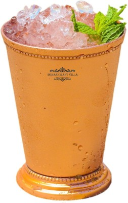 Indian Craft Villa Indian Craft Villa Handmade Mint Julep Cup - 100% Solid Pure Copper 400 ML- 13oz Beaded 4.5