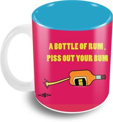 Thecrazyme A Bottle of Rum Ceramic Mug