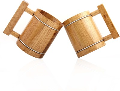 Wood Trim Classic Beer Twins Wood Mug