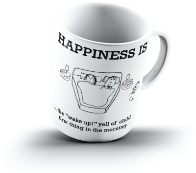 Ucard Happiness Is1823 Bone China, Ceramic, Porcelain Mug