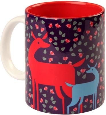 Studio Pandora Purple Deer Coffee Ceramic Mug