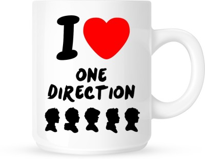 Huppme Gifts I Love One Direction White  Ceramic Mug