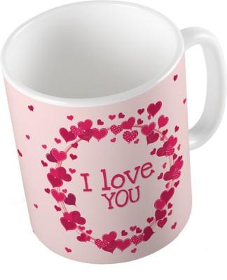 Indiangiftemporium Designer Romantic Print Coffee  692 Ceramic Mug