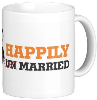Easyhome Happily Married Ceramic Mug