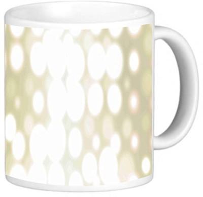 Rikki Knight LLC Knight Photo Quality Ceramic Coffee , 11 oz, Gold Spotlights Ceramic Mug