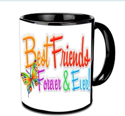 Jiya Creation1 Friend 4ever & ever Multicolor Ceramic Mug
