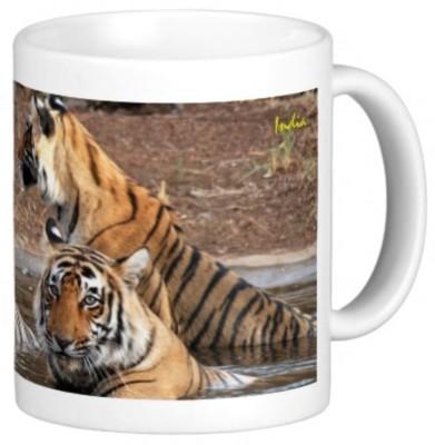 Lion Souvenirs Royal Bengal Tigers Coffee / Tea  Ceramic Mug