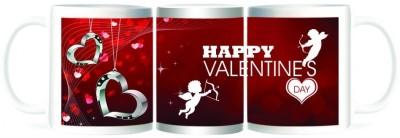 Refeel Gifts Happy Valentines Day Love Locket Ceramic Mug