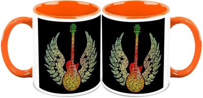 HomeSoGood The Musical Wings (Set Of 2) Ceramic Mug