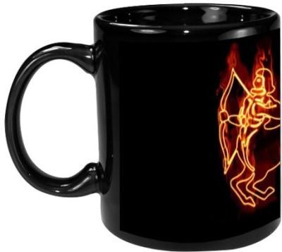 Onlineworld Zodiac Black Coffee  -Fire Stroke Sagittarius Sun Sign-03 Ceramic Mug