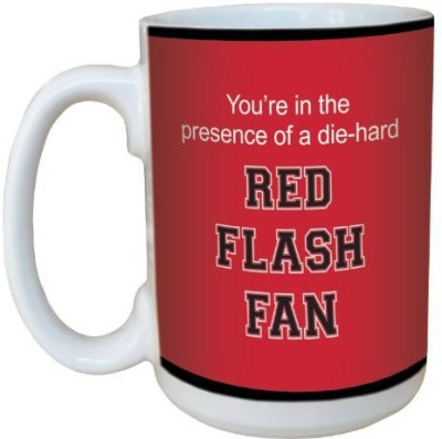 Tree-Free Greetings Greetings lm44896 Red Flash College Basketball Ceramic  with Full-Sized Handle, 15-Ounce Ceramic Mug