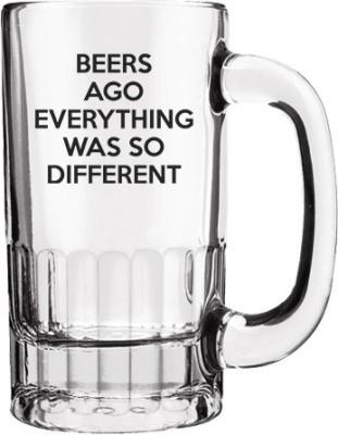 Keep Calm Desi Beers Ago Clear Beer  Glass Mug
