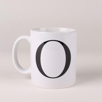 LetterNote Monogram O Ceramic Mug