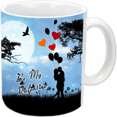 Jiya Creation Be Mine Valentine White  Ceramic Mug
