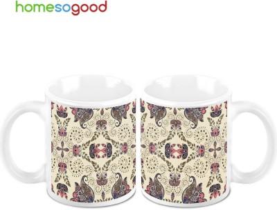 HomeSoGood Drawing On Bedsheets Ceramic Mug