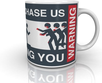 Bcreative Zombies Chasing (Officially Licensed) Ceramic Mug