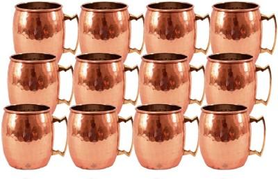 Indian Art Villa Set Of Moscow Mule Pure Round Hammer  Restaurant Bar Hotel Ware Copper Mug