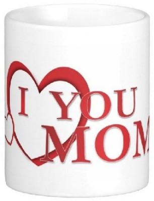 Easyhome I Love You Mom Ceramic Mug
