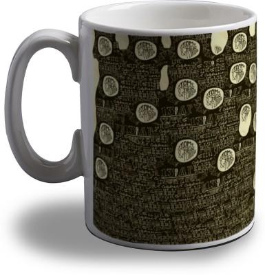 Artifa Guitar Typography Porcelain, Ceramic Mug