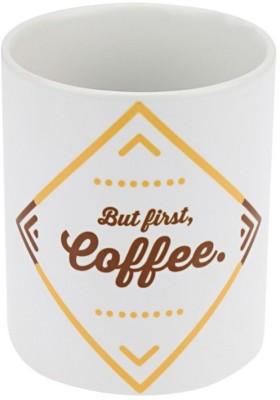 PropShop24 BUT FIRST COFFEE Ceramic Mug