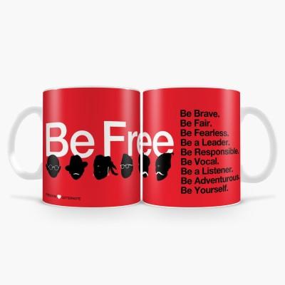 LetterNote Be Free Combo Ceramic Mug