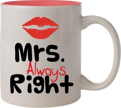 Nourish Mrs Always Right Ceramic Mug