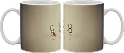 Artifa Get Cape Wear Cape And Fly Porcelain, Ceramic Mug