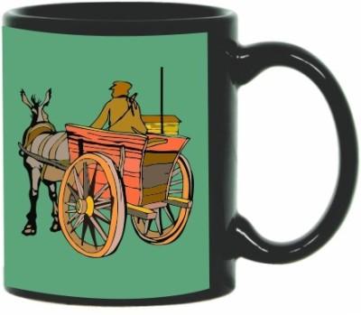 Printland Printland Cart Black Coffee  350 - ml Ceramic Mug