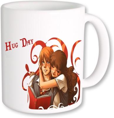 Heyworlds Hug Day 0013 Ceramic Mug