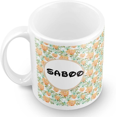 posterchacha Saboo Floral Design Name  Ceramic Mug