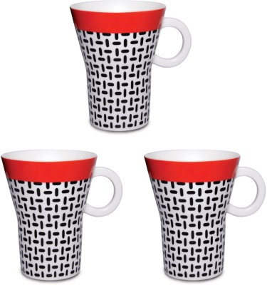Kudos Twill Red (3 Pcs) Ceramic Mug