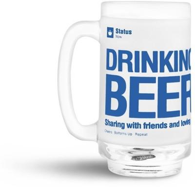 Happily Unmarried Facebook Status Beer  Glass Mug